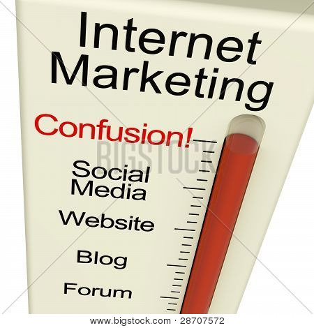 Internet Marketing Confusion Shows Online SEO Strategy And Devel