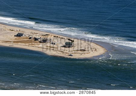 Cape Cod Beach Erosion Aerial Photo