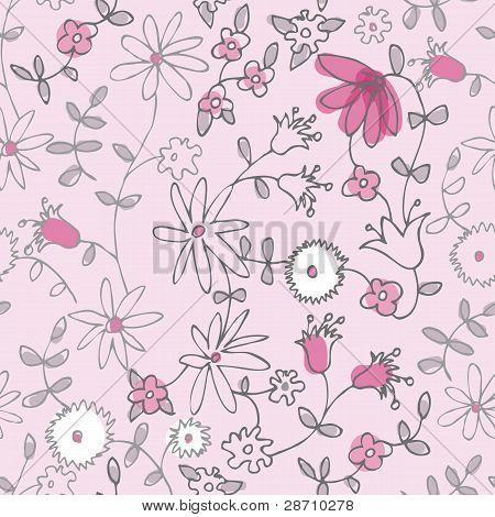 Pink Little Flower Seamless Pattern