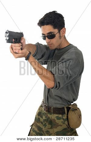 Man With Gun.