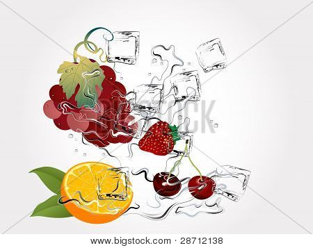 Fruits In Splash