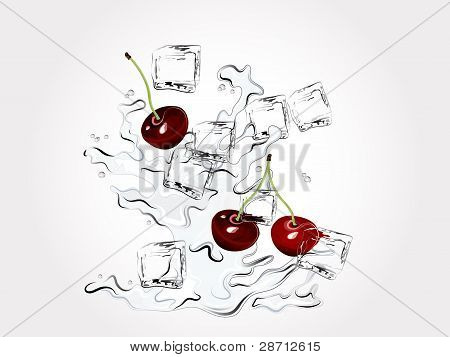 Cherries In Splash