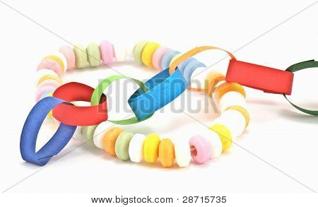 paper chain and candy chain