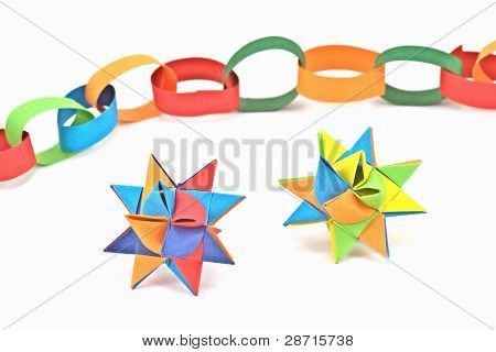 paper chain and star