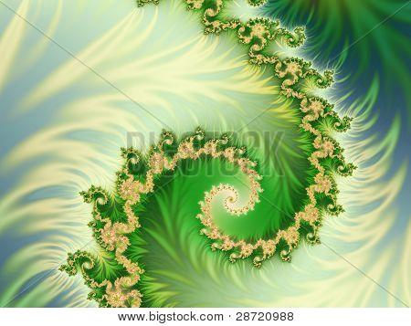 einem grünen Hintergrund