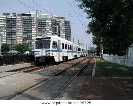 Lightrail Train From An Angle