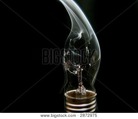 Smoking Busted Lightbulb