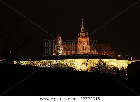 Prague Castle In The Night