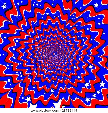 Stars & Stripes (Bewegung Illusion)