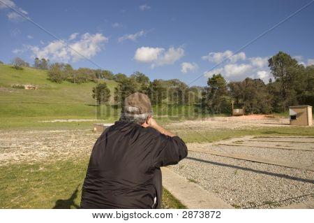 Looking Over The Skeet Shooters Shoulder