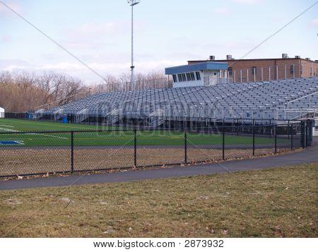 Empty Outdoor High School Football Stadium
