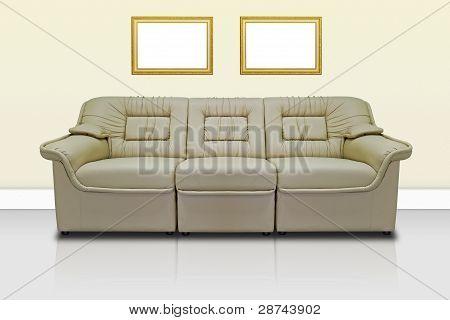 Beige Modern Sofa