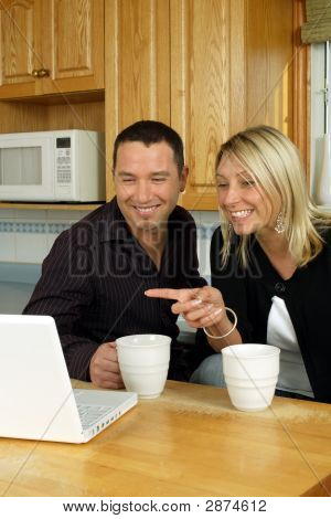 Young Couple Browsing Internet