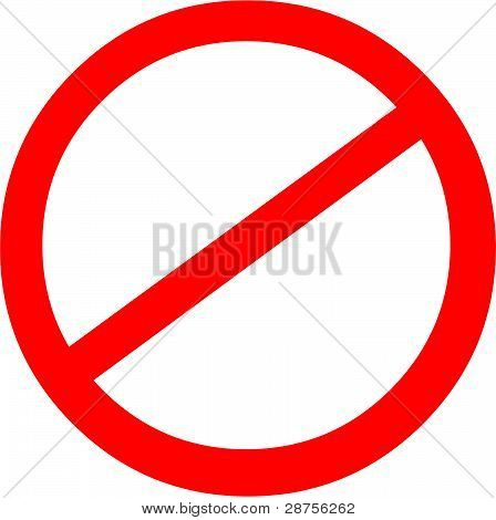 Banned Sign / Prohibited Symbol