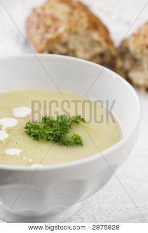 Bowl Of Asparagus Soup