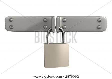 Two Metal Shutters, Closed For 3D Lock