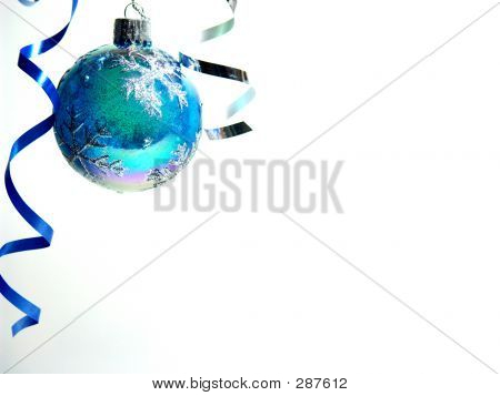 Christmas Ball In Corner