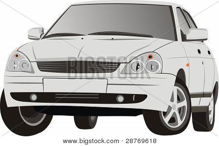 The beautiful car