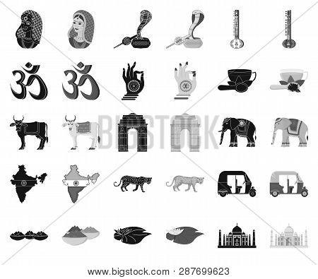 Country India Black Monochrome Icons