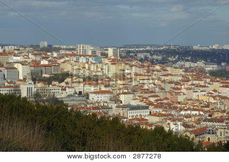 France; Lyon; Lyons; View Of The Croix-Rousse