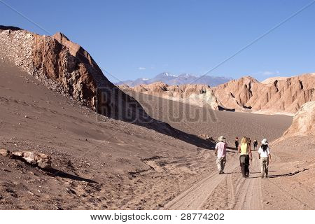 People in atacama desert