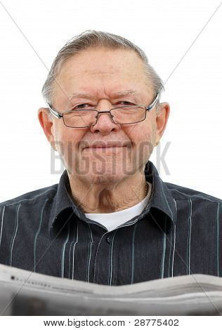 Grandpa Reading Newspaper