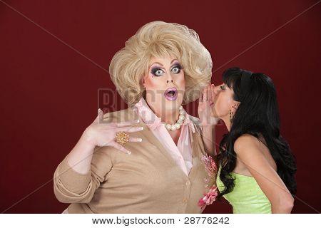 Woman Whispers Secret