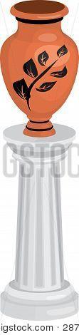 Vase On Column.eps