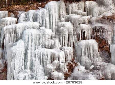 Icicles on a hillside in New Hampshire II