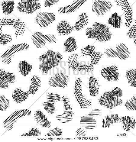Grunge Leopard Skin Seamless Pattern