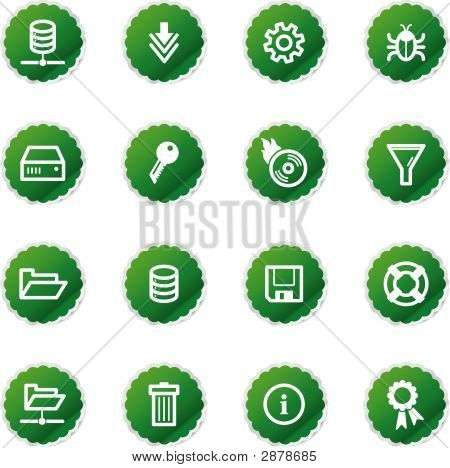 Green Sticker Server Icons