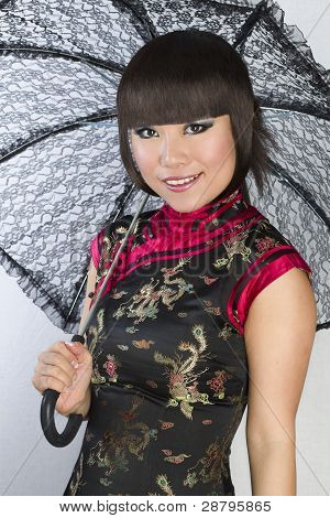 Closeup portrait of Young and Beautiful asian woman.