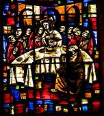 picture of atonement  - Last Supper Stained Glass Temple of Atonement Templo Expiatorio Guadalajara Mexico. Artist finished stained glass in the 1970s died and is buried at the Temple of Atonement