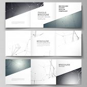 Vector Layout Of Square Format Covers Design Templates For Trifold Brochure, Flyer. Futuristic Desig poster
