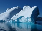 picture of growler  - Iceberg south of Ilulissat from the boat doing Greenland west coast ferry - JPG