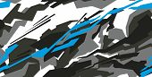 Car Decal Wrap Design Vector. Graphic Abstract Stripe Racing Background Kit Designs For Vehicle poster