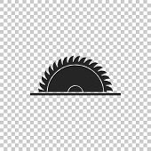 Circular Saw Blade Icon Isolated On Transparent Background. Saw Wheel. Flat Design. Vector Illustrat poster