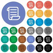 Script Code Multi Colored Flat Icons On Round Backgrounds. Included White, Light And Dark Icon Varia poster