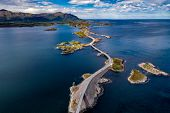 Atlantic Ocean Road or the Atlantic Road (Atlanterhavsveien) been awarded the title as Norwegian Con poster