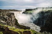 Dettifoss Waterfall In Northeast Iceland poster