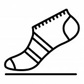 Fashion Sock Icon. Outline Fashion Sock Icon For Web Design Isolated On White Background poster