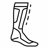 Hockey Sock Icon. Outline Hockey Sock Icon For Web Design Isolated On White Background poster