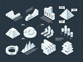 Graphic Isometric. Infographic Business Diagram Charts Stats Shapes Vector Empty Infographic Templat poster