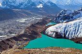 foto of sherpa  - Gokyo lake in Himalaya mountains Nepal - JPG