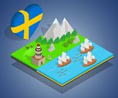 Finland Concept Banner. Isometric Banner Of Finland Vector Concept For Web, Giftcard And Postcard poster