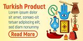 Turkish Product Concept Banner. Cartoon Banner Of Turkish Product Concept For Web, Giftcard And Post poster