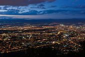 View To The Sofia City At Dusk. View From The Kopitoto Hill, Vitosha Mountain, Bulgaria. poster