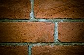 Vintage Old Brick Wall Texture With Vignetting, Great Design For Any Purposes. poster