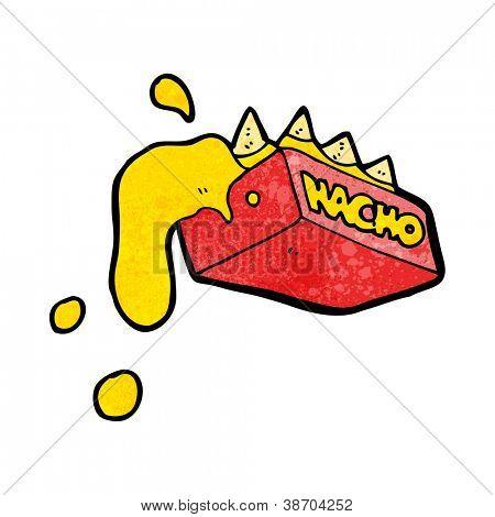 cartoon nacho cheese snack