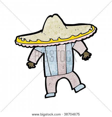 cartoon man in big mexican hat